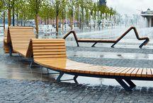 Street furniture, urban landscapes