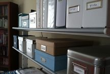 Office Spaces Organized / Its more than just a place for paper! Its where you Get Things Done!