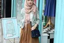 Vintage hijab style