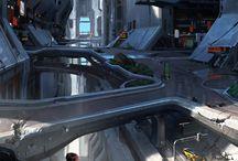 sci-fi/robotic/cyborg landscapes