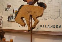 Exhibit: Okie Eclectic - The Art of Mikel Davison / Sept. 15 - Jan. 3, 2015. Artist's reception 4:30-6:30 p.m. Thursday, Oct. 9, 2014. View this unique view on combining found treasures and reclaimed wood with Oklahoma history and you discover quirky eclectic art. One of a kind items. Not all items are pictured here. Click the images for link to the story on our website.