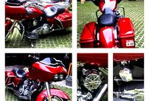 My Red Zeppelin / Road Glide and lovely bobbers