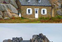 1 petite maison en pierre