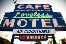Nothin' But Neon / The Loveless Cafe and Motel neon sign is an iconic symbol that still stands outside the Cafe on Highway 100 today. Here we highlight pictures of our sign as well as other fun neons! / by Loveless Cafe