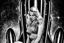 Virgil Finlay / American pulp fantasy, sci fi, and horror illustrator.   1914 - 1971.
