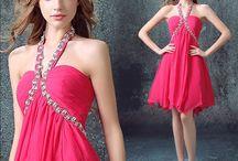 Gaun Malam Pink