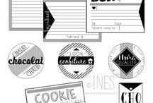 Étiquettes / Étiquettes à imprimer.