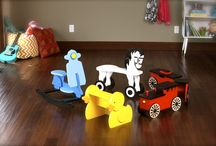 Children's Playroom Inspiration / Classic children's toys and inspirational ideas for playrooms or nurseries. / by South Bend Woodworks