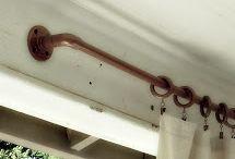 vintage curtain rod