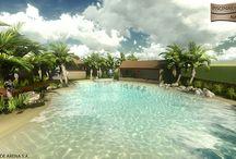 Piscinas de arena / Este tipo de piscinas están empezando a implantarse.