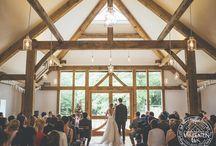 New Oak Barn at Nancarrow Farm / Nancarrow Farm's oak framed wedding barn designed by Matt Robinson, oak frame by Carpenter Oak Ltd.