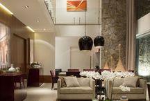 Salas (Tudo junto & Misturado) / Sala de estar, jantar, tv integradas ou não com a cozinha