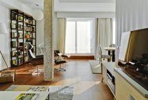 Casa CB#20 / La casa debe ser el estuche de la vida, la maquina de la felicidad  (Le Corbusier) | En pleno centro de Madrid, esta vivienda se diseño a partir de un sencillo juego de volúmenes. El espacio que queda entre ellos, es la arquitectura habitable.