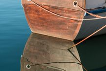 Hout Bay Harbour, Cape Town, South Africa / Boat Reflecting on Water
