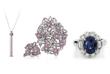 Sapphire Jewellery / Pink sapphires and classic blue sapphires in jewellery by Giulians.
