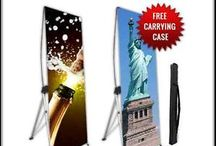 X banner set / Aluminum made X Banner Stand for a long lasting life Strong and durable build.