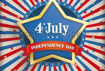 4th of July - Independence Day / Vector flyer design for the 4th July.
