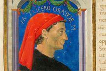 Miniature: ritratti / Illuminated portraits / Nelle Vitae parallellae di Plutarco dei codici S.XV1-2 e S.XVII.3 realizzati  tra il 1440 e il 1460 e conservati in Malatestiana, ogni iniziale decorata è accompagnata dal ritratto del personaggio di cui si parla. #codex #manuscript