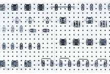 Steel Square Hole Pegboard Organization / LocBoard® heavy duty scratch resistant epoxy coated steel pegboards