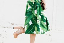 Tropical fabric sewing ideas / Inspo, fabrics and patterns