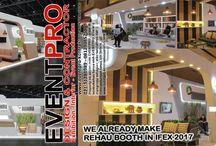 KONTRAKTOR BOOTH PAMERAN / Eventpro sebagai kontraktor pameran jakarta penyedia jasa pembuatan booth. HOTLINE 081212103386.