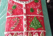 Ugly Christmas Sweater Cakes