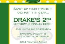 Party Ideas - Birthday : Farm & Tractor