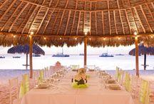 Beach Palapa and Beach Area Venue / Tropical, Beach, Wedding, Destination, Bridal, Bouquet, Centerpiece, Decor, Setup, Boutonniere, Flower, Corsage, Ocean, Sunset, Aruba, Hyatt, Newlywed, Beach, Ideas, Deck, Venue, Location, Area, Palapa