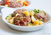 Filetes rusos en salsa verduras