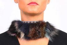 Collares - Colección Peletería / Collares de pelo de zorro. Joyas especiales de la Colección Complementos de Peletería Gloriaca.