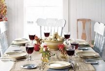 Holiday Tablescapes / Dress up your table for the holidays!