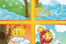 évszakok, időjárás