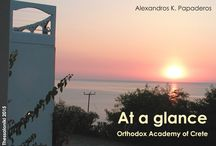 At a glance / Orthodox Academy of Crete