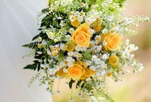 yellows bouquets