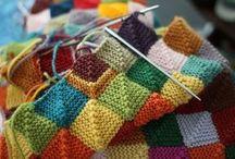 вязание в стиле пэчворк спицами