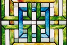 Stained Glass - Celtic and Irish Designs / by Barbara Burnard