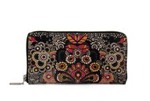 Wallet - Midnight Blossom / Women Leather Wallet, Limited Edition Designer Leather Wallet COLOURS OF MY LIFE - Limited Edition wearable art signed by Anca Stefanescu.