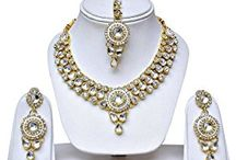 Dazzling Bollywood Inspired Vidaya Balan Inspired Designer Kundan Jewellery Set