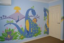 Dinos & Dragons / From wacky & cute dinosaurs to sort of scary Dragons & Serpents, these Paint-by-Number murals are sure to delight any child.