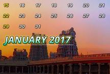 2017 Calendar - Indian Beauty Of Temples / Get the entire calendar of 2017 with the scenic beauty of temples.