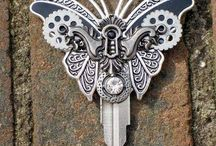 Butterfly Lock and Key