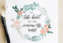 Lettering and watercolor