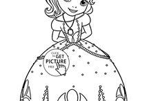 Disney princess coloring pages / Beautiful Disney Princess