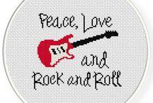 bordado rock