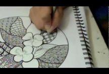 Zentangle , doodle art video