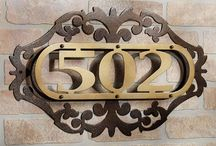 House Number Address Plaques & Stakes