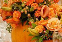 composizioni  fiori candele