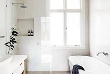 Grey and white interiors