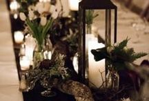 New Year's Eve Wedding Centrepieces