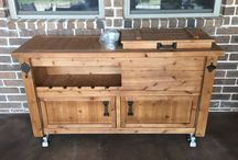 Coolers, Bars & Cabinets for Indoor or Outdoor Living / Rustic & Reclaimed wood bar carts, wooden coolers and other beer and wine cabinets for indoor and outdoor living.